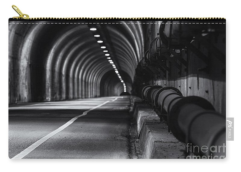 Tunnel Photography Carry-all Pouch featuring the photograph Into The Headlands by Digital Kulprits