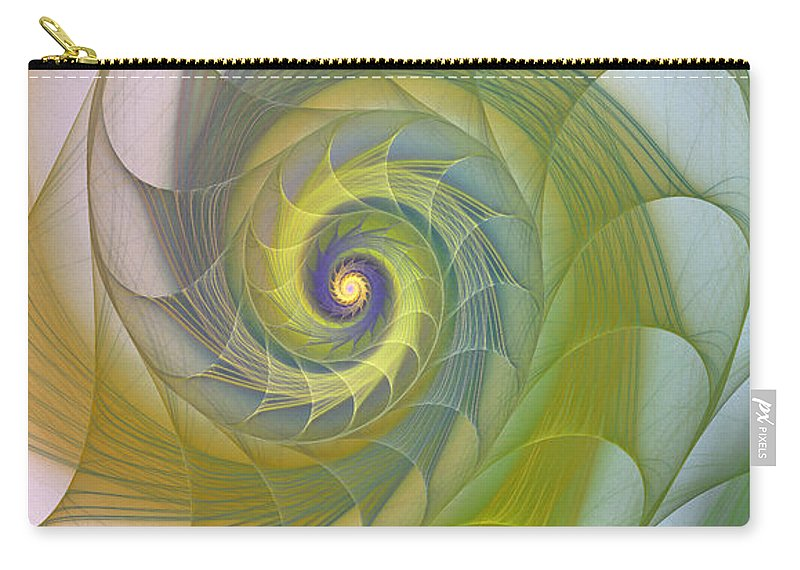Fractal Carry-all Pouch featuring the photograph Into The Inner Kingdom by Deborah Benoit