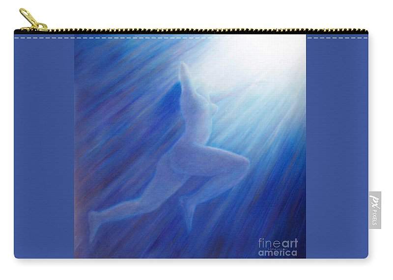 Spiritual Carry-all Pouch featuring the painting Into The Light by Brian Commerford