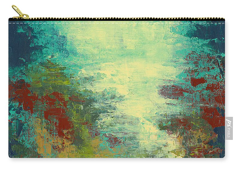 Abstract Painting Carry-all Pouch featuring the painting Into The Light by Debbie Smith