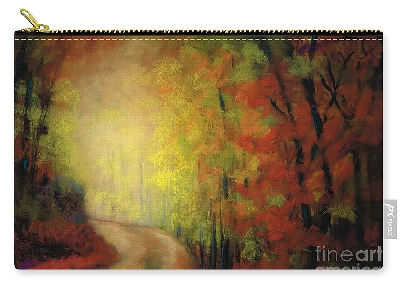 Landscape Carry-all Pouch featuring the painting Into The Light by Frances Marino