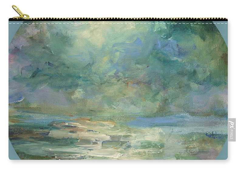 Impressionism Carry-all Pouch featuring the painting Into The Light by Mary Wolf