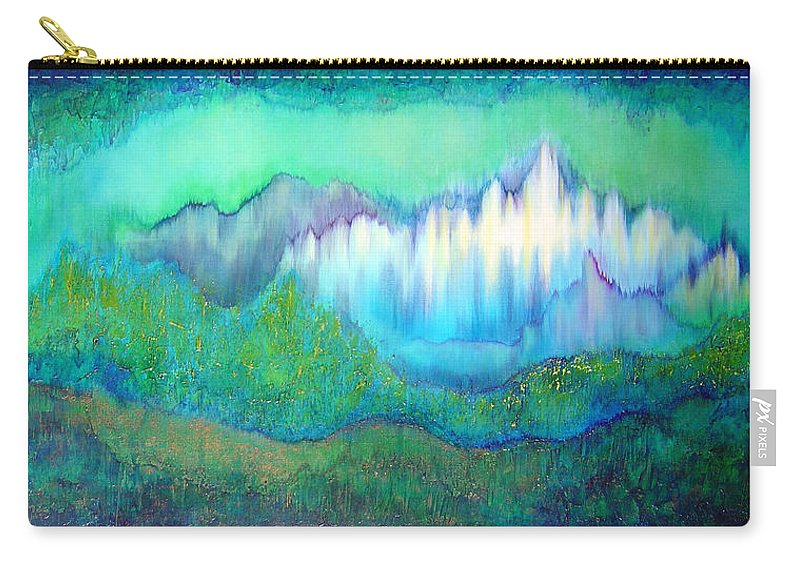Blue Carry-all Pouch featuring the painting Into The Ocean by Shadia Derbyshire
