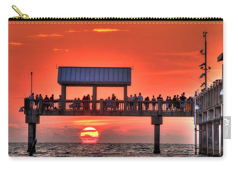 Beach Carry-all Pouch featuring the photograph Into The Sea by Scott Mahon