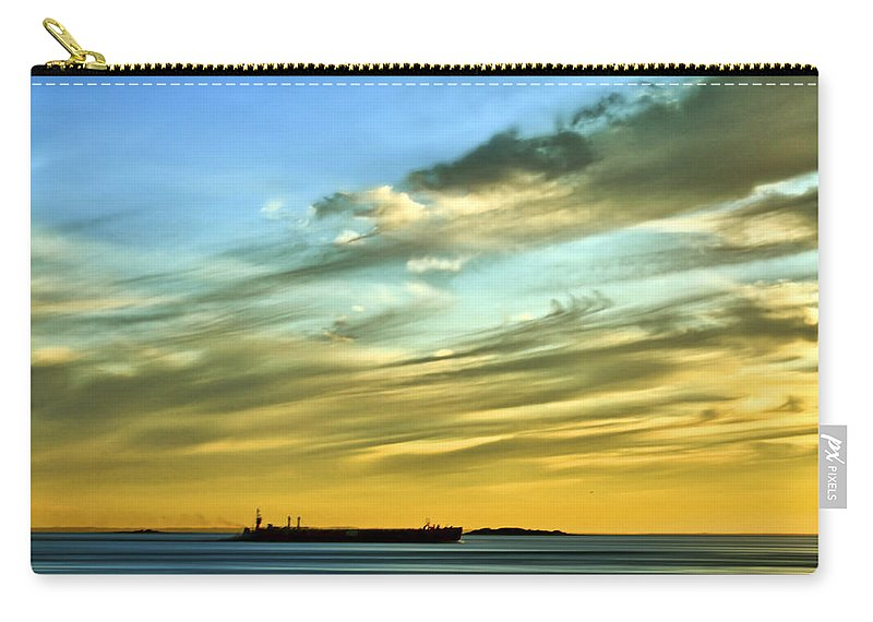 Sunset Carry-all Pouch featuring the photograph Into The Sunset by Evelina Kremsdorf