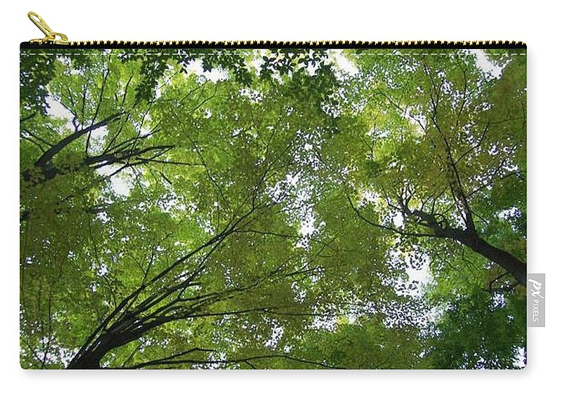 Photography Carry-all Pouch featuring the photograph Into The Trees by Michael TMAD Finney