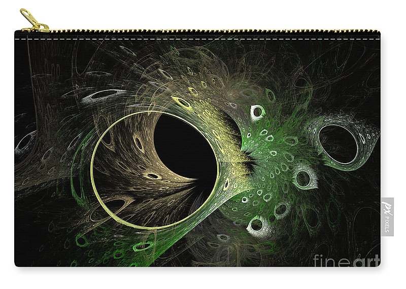 Fractal Carry-all Pouch featuring the digital art Into The Vortex by Deborah Benoit