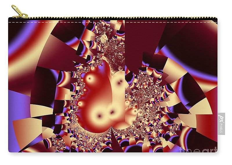 Fractal Art Carry-all Pouch featuring the digital art Into the Well by Ron Bissett