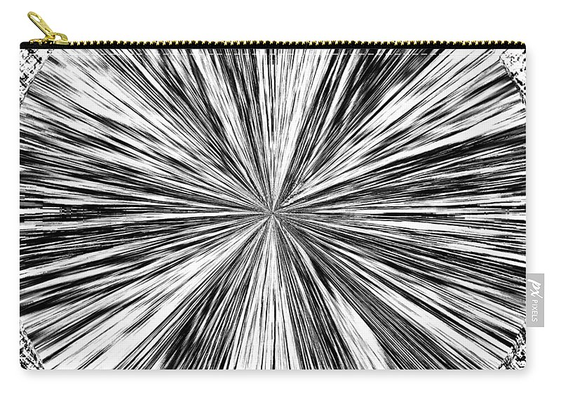 Black & White Carry-all Pouch featuring the digital art Introspective by Will Borden