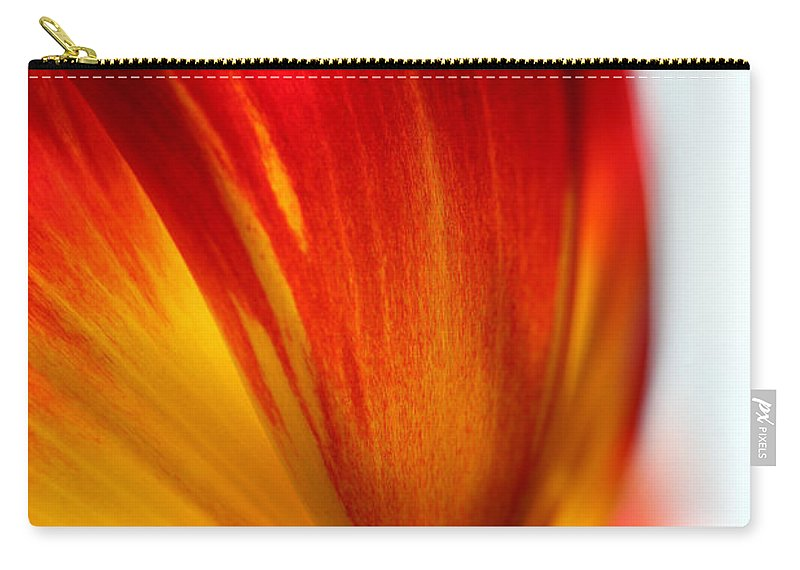 Tulip Carry-all Pouch featuring the photograph Introverted by Amanda Barcon