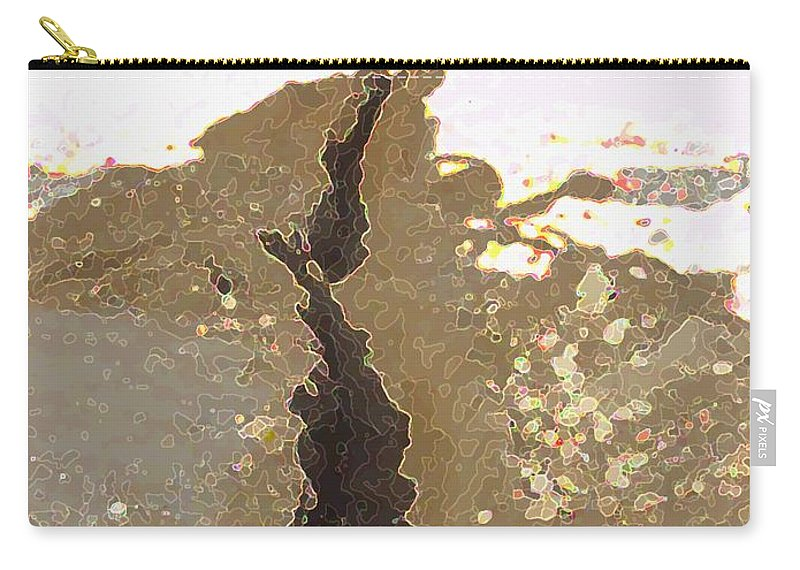 Abstract Carry-all Pouch featuring the digital art Intrusion by Ron Bissett
