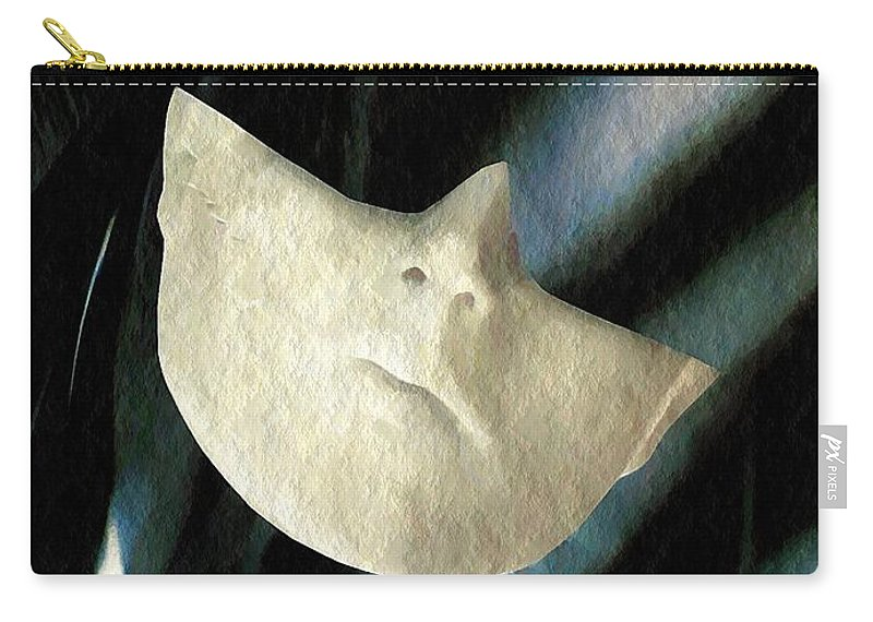 Statuary Carry-all Pouch featuring the mixed media Intrusion by Sarah Loft