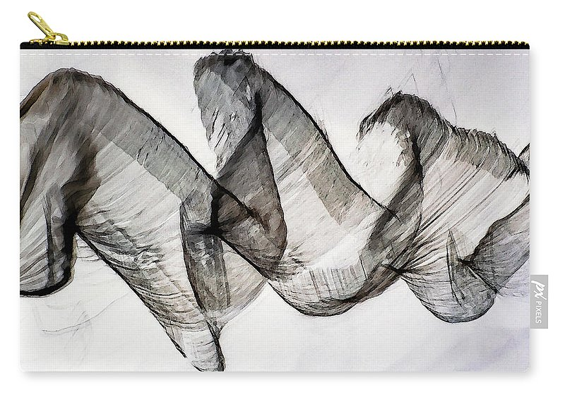 Abstract Art Carry-all Pouch featuring the photograph Inverted Reflection Abstract 403 by Craig Royal