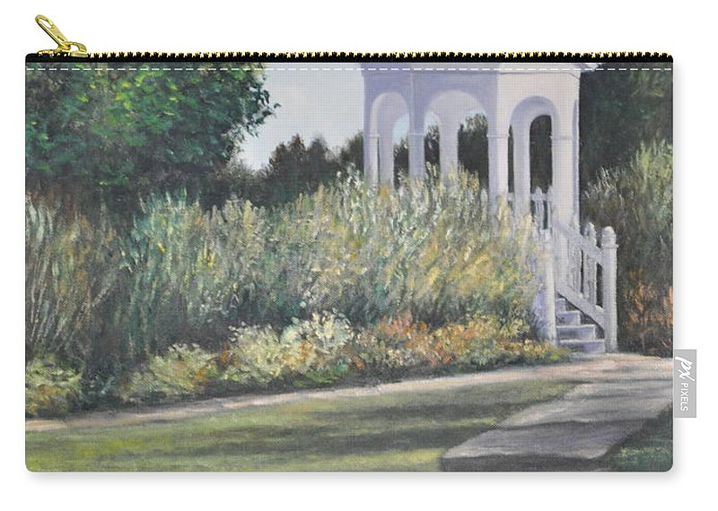 Laurel Arts Gazebo Carry-all Pouch featuring the painting Invitation At Laurel Arts by Penny Neimiller