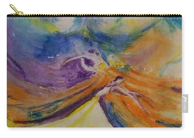 Dancer Carry-all Pouch featuring the painting Invitation To The Dance by Leah Saban