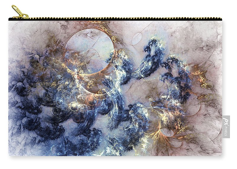 Abstract Carry-all Pouch featuring the digital art Ion Storm by Casey Kotas
