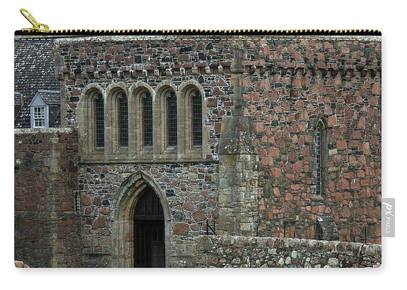 Isle Of Iona Carry-all Pouch featuring the photograph Iona Abbey by Bob Phillips