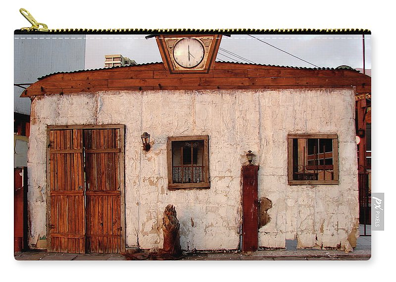 Iquique Carry-all Pouch featuring the photograph Iquique Chile Cantina by Brett Winn