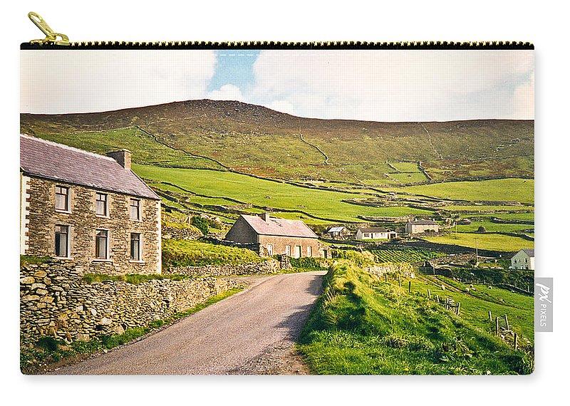 Ireland Carry-all Pouch featuring the photograph Ireland Farmland by Douglas Barnett