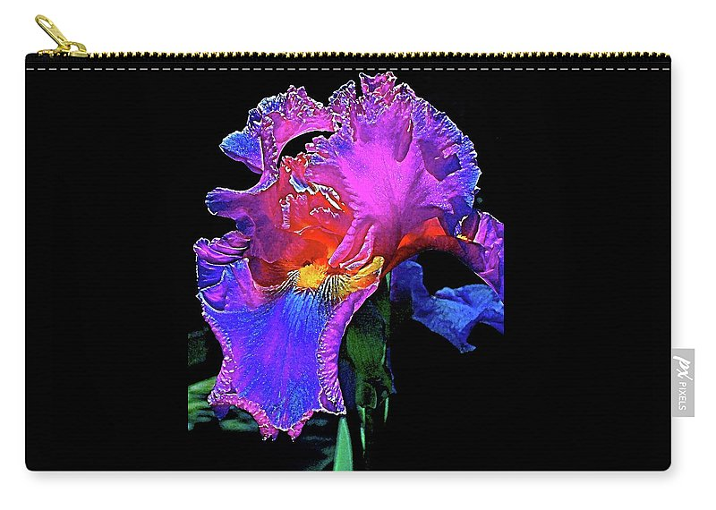 Flowers Carry-all Pouch featuring the photograph Iris 3 by Pamela Cooper
