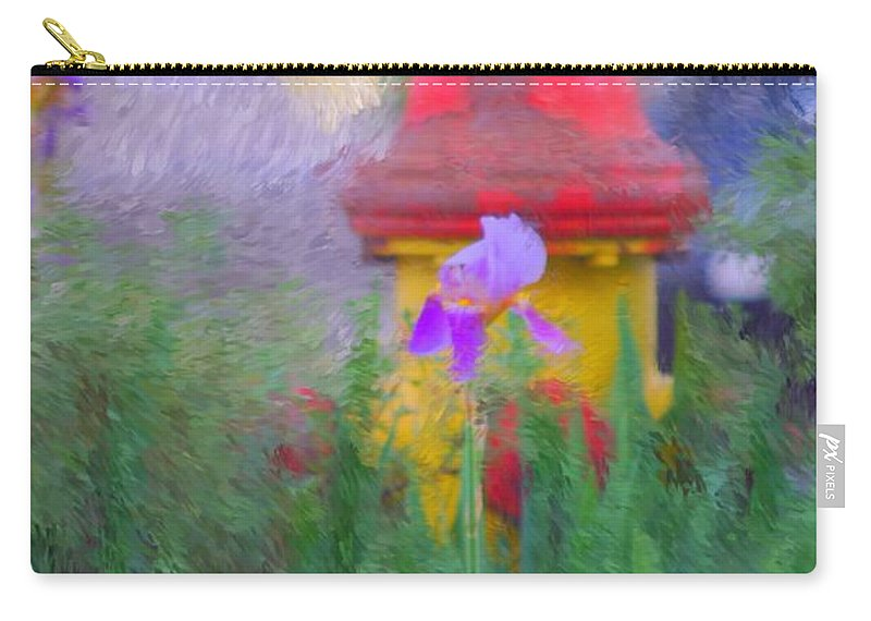 Digital Photo Carry-all Pouch featuring the photograph Iris And Fire Plug by David Lane