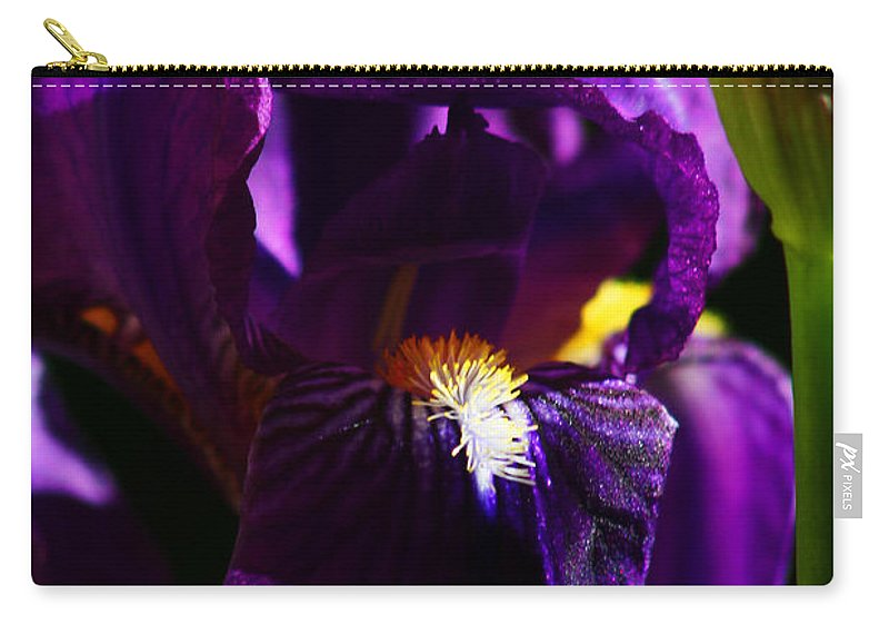 Flower Carry-all Pouch featuring the photograph Iris by Anthony Jones