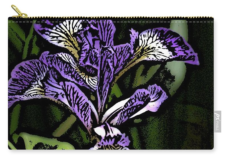 Digital Photograph Carry-all Pouch featuring the photograph Iris by David Lane