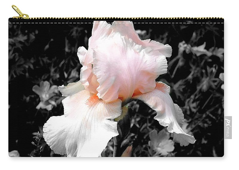 Flower Carry-all Pouch featuring the photograph Iris Emergance by Steve Karol