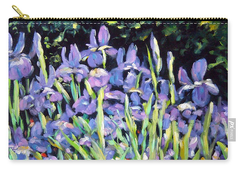 Art Carry-all Pouch featuring the painting Iris En Folie by Richard T Pranke