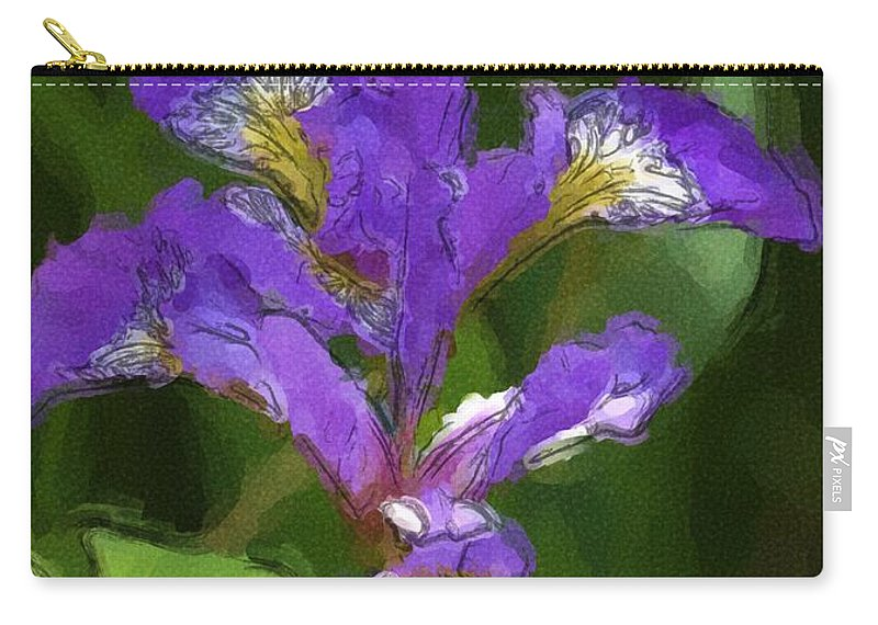 Digital Photograph Carry-all Pouch featuring the photograph Iris II by David Lane