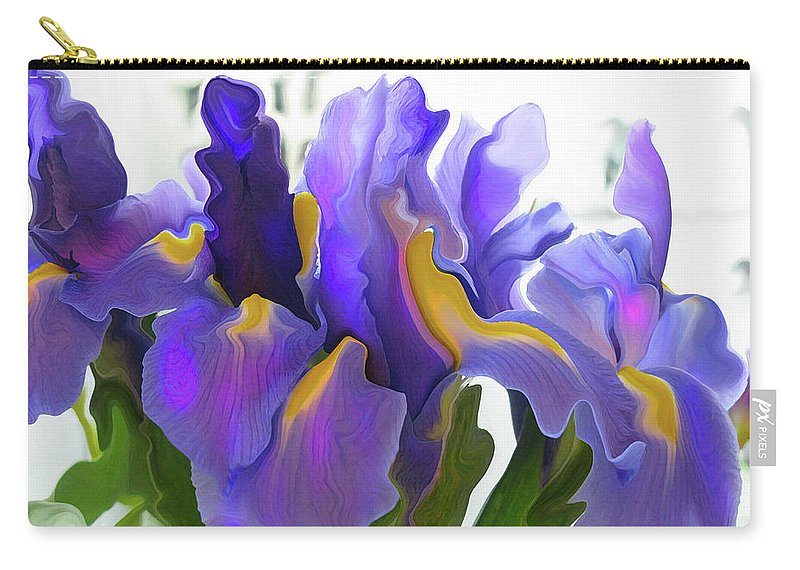 Abstract Carry-all Pouch featuring the photograph Iris by Kathy Moll