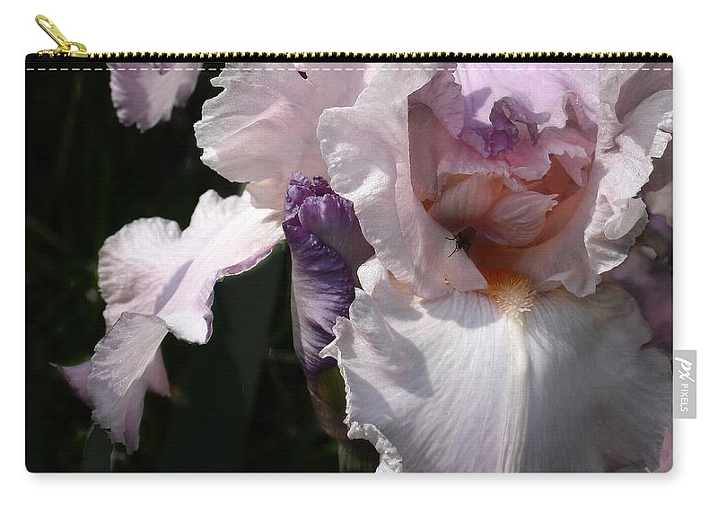 Flower Carry-all Pouch featuring the photograph Iris Lace by Steve Karol