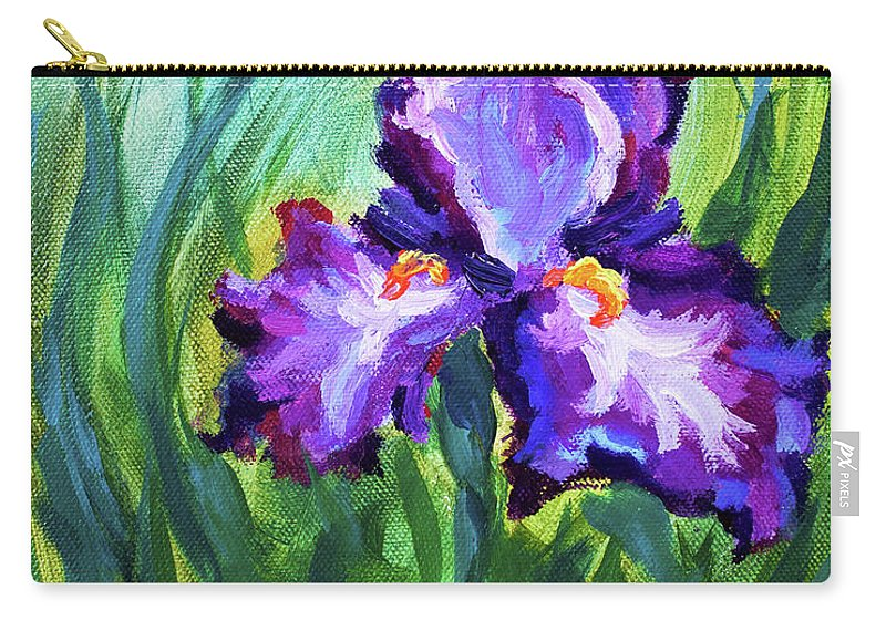 Carry-all Pouch featuring the painting Iris Solo by Melissa G Thompson