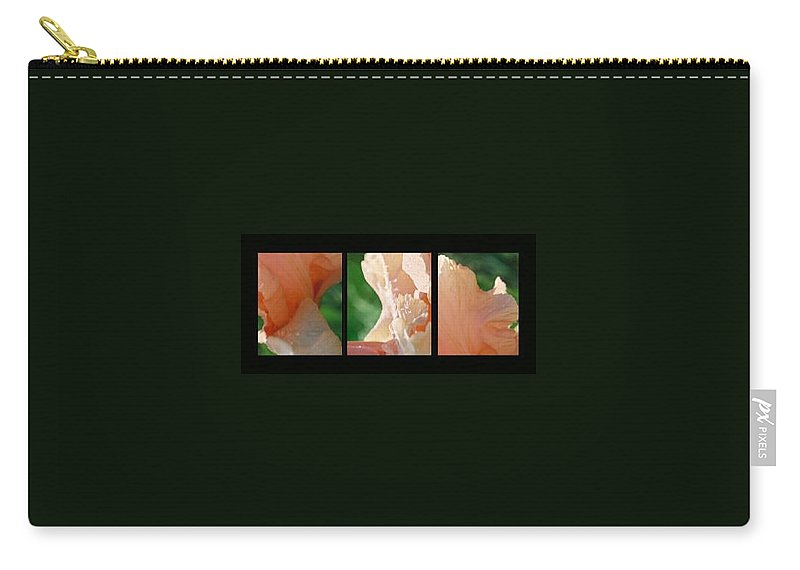 Abstract Carry-all Pouch featuring the photograph Iris by Steve Karol
