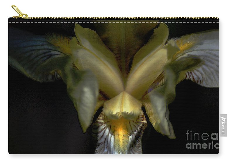 Digital Photo Carry-all Pouch featuring the photograph Iris Two by David Lane