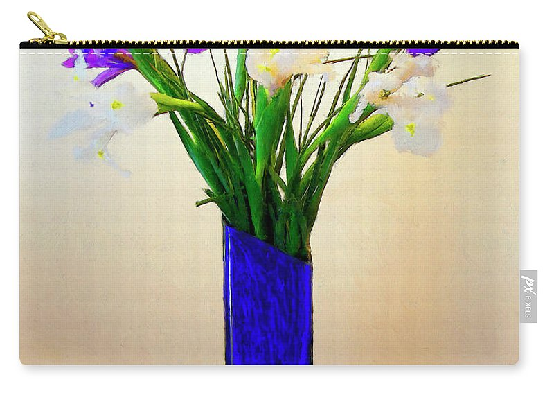 Irises Carry-all Pouch featuring the painting Irises by Dominic Piperata