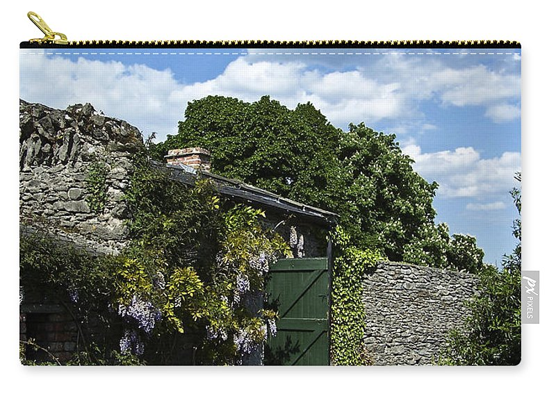 Irish Carry-all Pouch featuring the photograph Irish Garden County Clare by Teresa Mucha