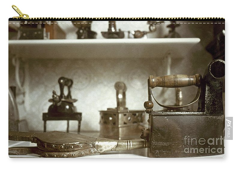 -domestic- Carry-all Pouch featuring the photograph Iron, 19th Century by Granger