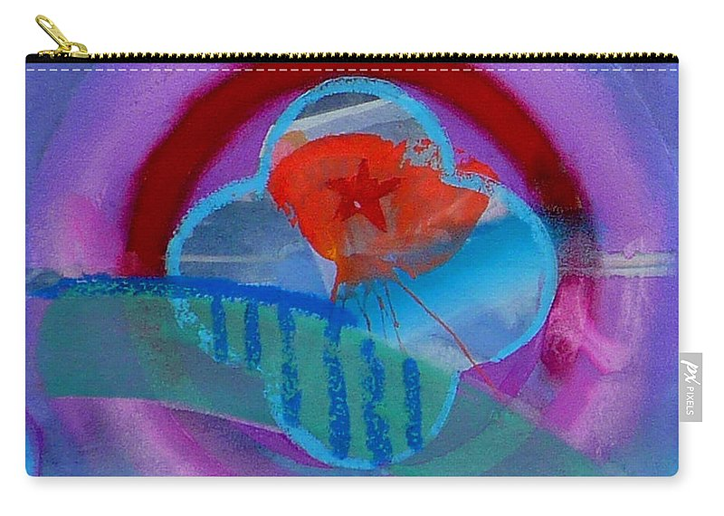 Logo Carry-all Pouch featuring the painting Iron Butterfly by Charles Stuart