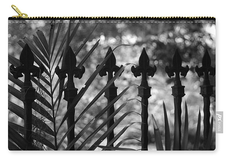 Wrought Iron Carry-all Pouch featuring the photograph Iron Fence by Rob Hans