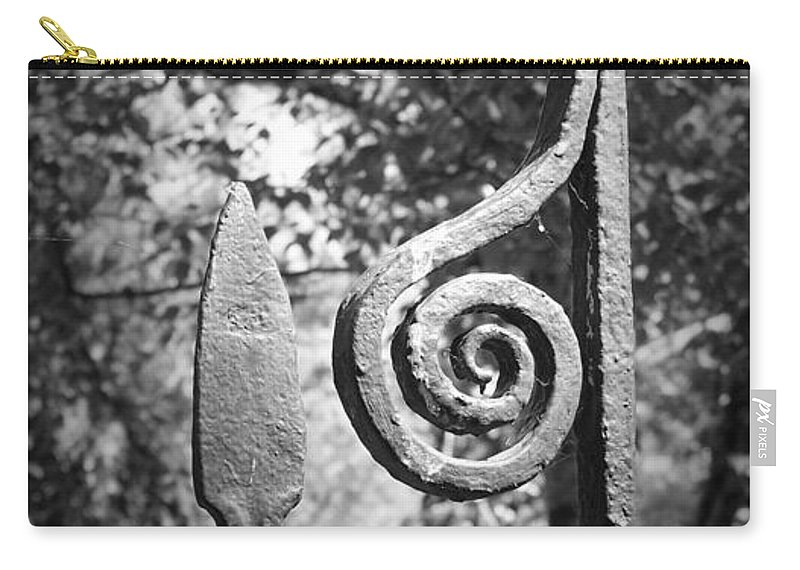 Irish Carry-all Pouch featuring the photograph Iron Gate Detail County Clare Ireland by Teresa Mucha