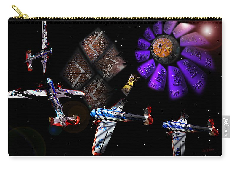 Outer Space Carry-all Pouch featuring the digital art Iron In The Sky by Charles Stuart