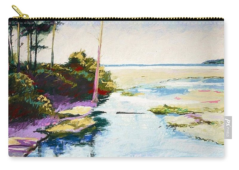 Pastel Carry-all Pouch featuring the painting Iron Springs by Mary McInnis