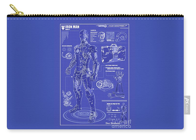 Hero Carry-all Pouch featuring the photograph Ironman Patent by Doc Braham