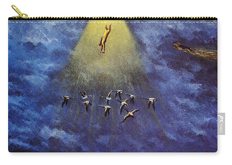 America Carry-all Pouch featuring the photograph Iroquois Creation Myth by Granger