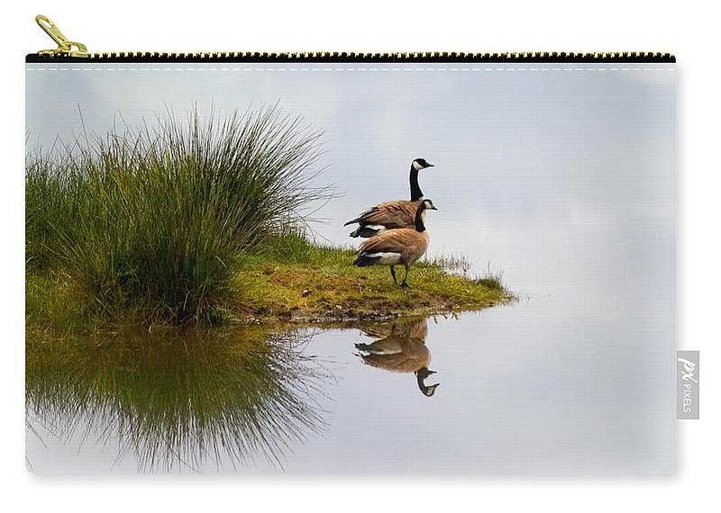 Canada Geese Carry-all Pouch featuring the photograph Is This Heaven by Randall Ingalls