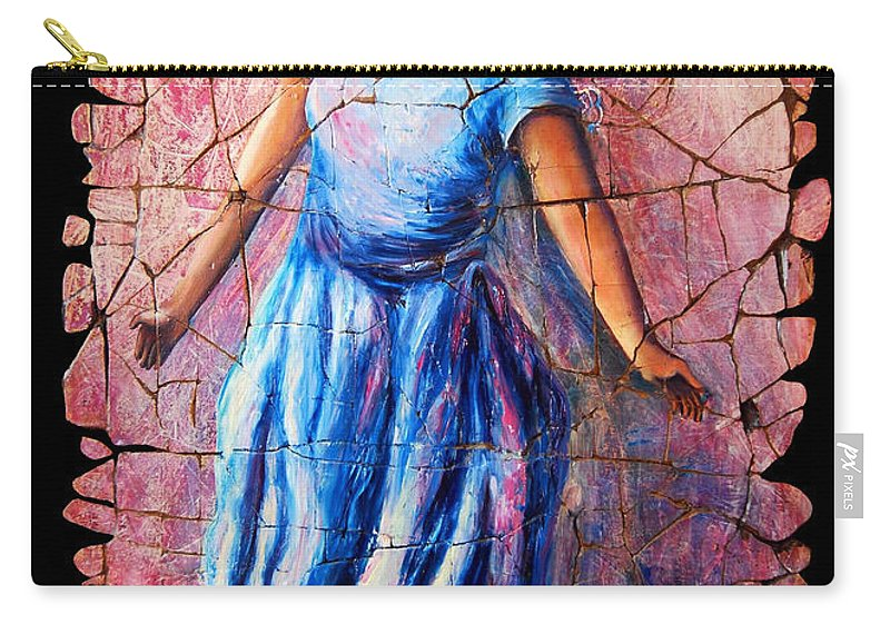 Isadora Duncan Carry-all Pouch featuring the painting Isadora Duncan - 2 by OLena Art Brand