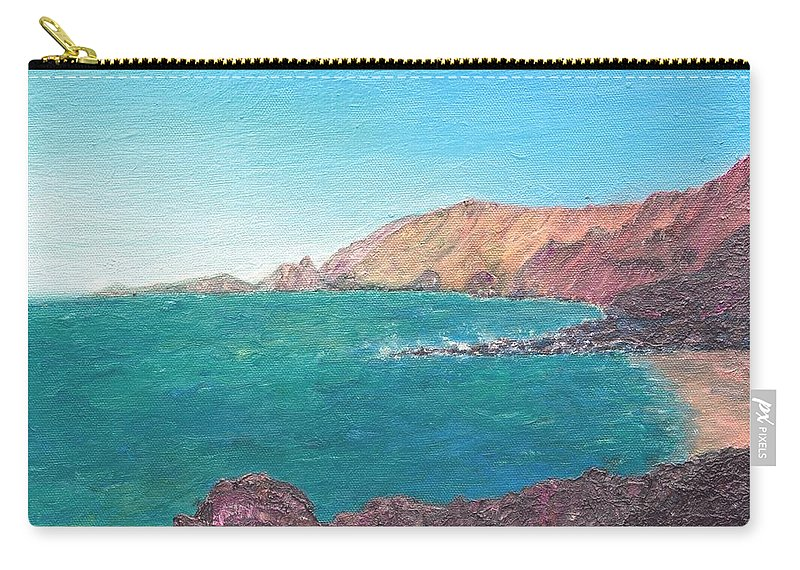 Island Carry-all Pouch featuring the painting Isla D' El Hierro by Ishwar Malleret