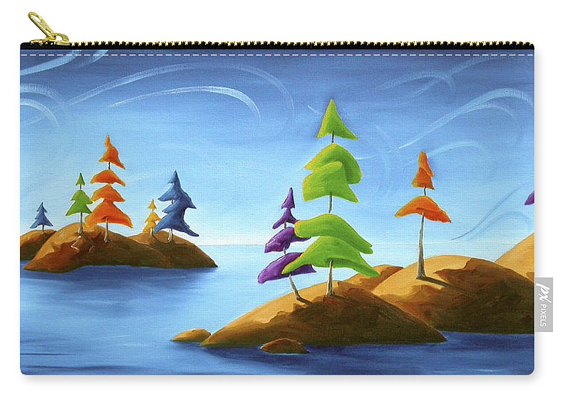 Landscape Carry-all Pouch featuring the painting Island Carnival by Richard Hoedl