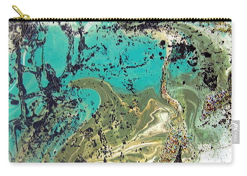 Island Carry-all Pouch featuring the painting Island Lagoon by Dawn Hough Sebaugh